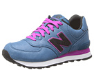 New Balance Classics WL574 Precious Metals Blue, Red Shoes