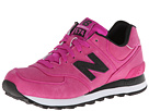 New Balance Classics WL574 Precious Metals Pink, Black Shoes