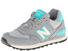 New Balance Classics WL574 Pennant Collection Grey, Teal Shoes
