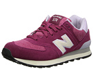 New Balance Classics WL574 Pennant Collection Burgundy Shoes