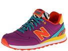 New Balance Classics WL574 Pop Safari Purple 14 Shoes