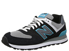 New Balance Classics WL574 Black, Blue Shoes