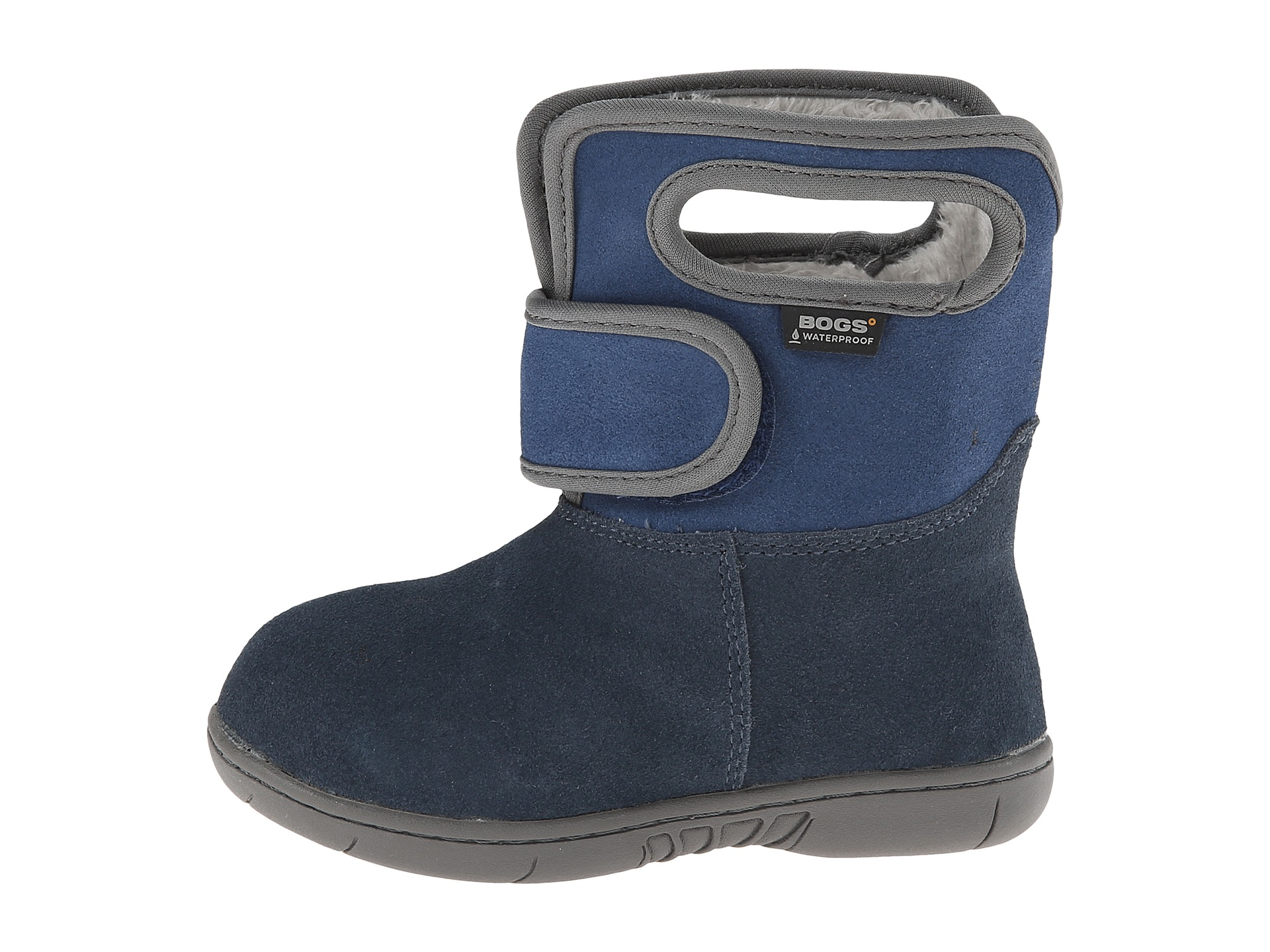 bogs baby h l boot suede toddler navy zappos