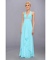 Faviana - Beaded Cross Back Chiffon Dress 6916