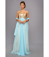 Faviana - Sequined Bodice Strapless Sweetheart Gown 7411