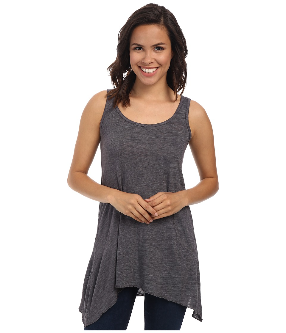 Allen Allen - Scoop Neck Angled Tunic (Flint) Womens Sleeveless