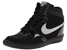 Nike Force Sky High Sneaker Wedge (Black/Anthracite/Metallic Silver)
