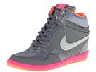 Nike Force Sky High Sneaker Wedge (Cool Grey/Hyper Pink/Bright Mango/Metallic Silver)