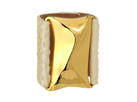 Vince Camuto Liquid Luxury Cream Leather Snake Bracelet