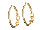 LAUREN Ralph Lauren - Equestrian Large Double Stirrup Click It Hoop Earring (Gold)