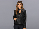 Cole Haan - Perforated Lambskin Moto Jacket (Black) - Apparel
