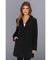 Cole Haan - Single Breasted Raincoat With Button Closure & Center Back Pleat