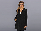 Cole Haan - Single Breasted Raincoat With Button Closure Center Back Pleat (Black) - Apparel