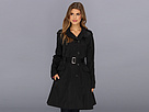 Cole Haan - Asymmetrical Skirted Trench (Black) - Apparel