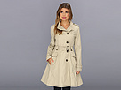 Cole Haan - Asymmetrical Skirted Trench (Stone) - Apparel