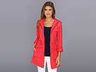 Cole Haan - Packable 4 Pocket Zip Up Jacket With Hood (Poppy)