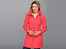 Cole Haan - Packable Zip Jacket w/ Zip-Out Hood (Poppy) - Apparel
