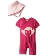 Appaman Kids - Super Soft Appaman Monkey Hockey Romper and Hat Set (Infant)