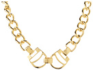 LAUREN Ralph Lauren - Equestrian 16 Large Surb Chain With Stirrup Frontal Necklace (Gold)