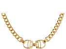 LAUREN Ralph Lauren - Equestrian 18 Curb Chain With Stirrup Frontal With Foldover Closure Necklace (Gold)