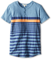 Appaman Kids - Slub Cotton Jersey Striped S/S Henley (Toddler/Little Kids/Big Kids)