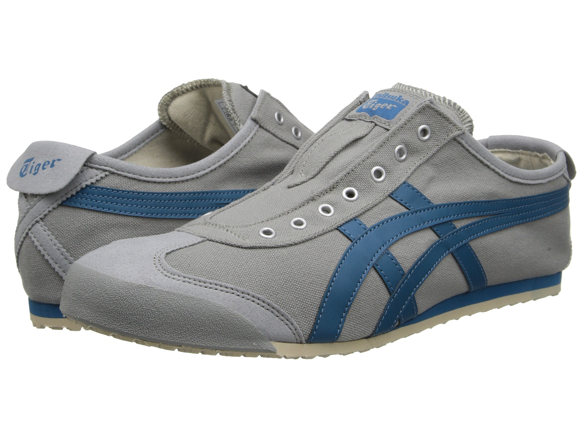 onitsuka tiger by asics mexico 66 slip on black white shipped free at zappos. Black Bedroom Furniture Sets. Home Design Ideas