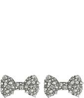 Betsey Johnson - Pretty Pearl Punk Spiky Bow Stud Earrings