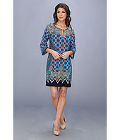Laundry by Shelli Segal - Akasha Border Placement Print Dress
