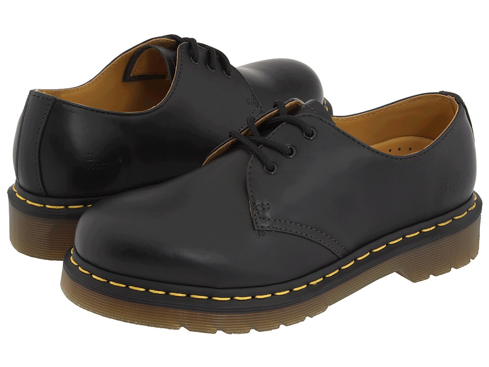 Dr. Martens 1461 3-Eye Gibson (Black Smooth)