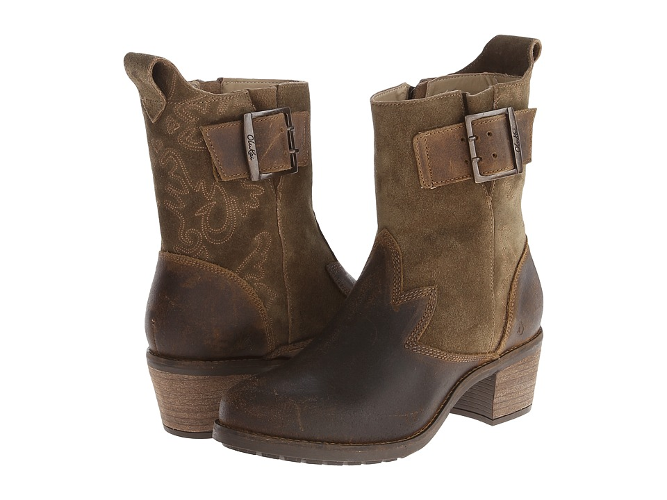 OluKai Kaiulani Seal Brown/Mustang Womens Pull on Boots