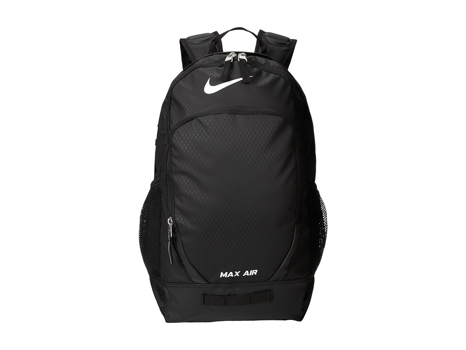 Nike - Team Training Max Air Large Backpack (Black/Black/White Multi Snake) Backpack Bags