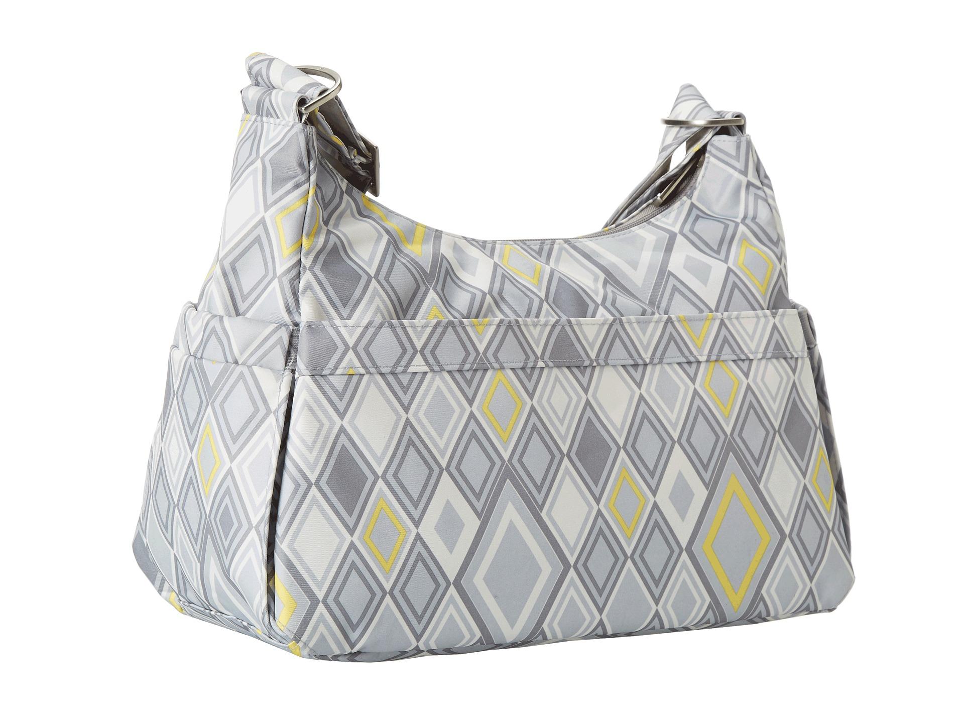 ju ju be hobo be messenger diaper bag with insulated bottle pockets and 4 zippered pockets. Black Bedroom Furniture Sets. Home Design Ideas