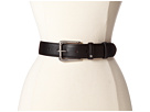 LAUREN Ralph Lauren 1 3/8 Leather Belt w/ Roller Buckle