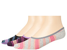 Cole Haan - Graduated Stripes Liner 3-Pack with Gel Stay Up Heel (Assorted 2) - Footwear