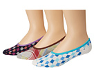 Cole Haan - Diamond and Plaid Liner 3-Pack with Gel Stay Up Heel (Assorted 2) - Footwear