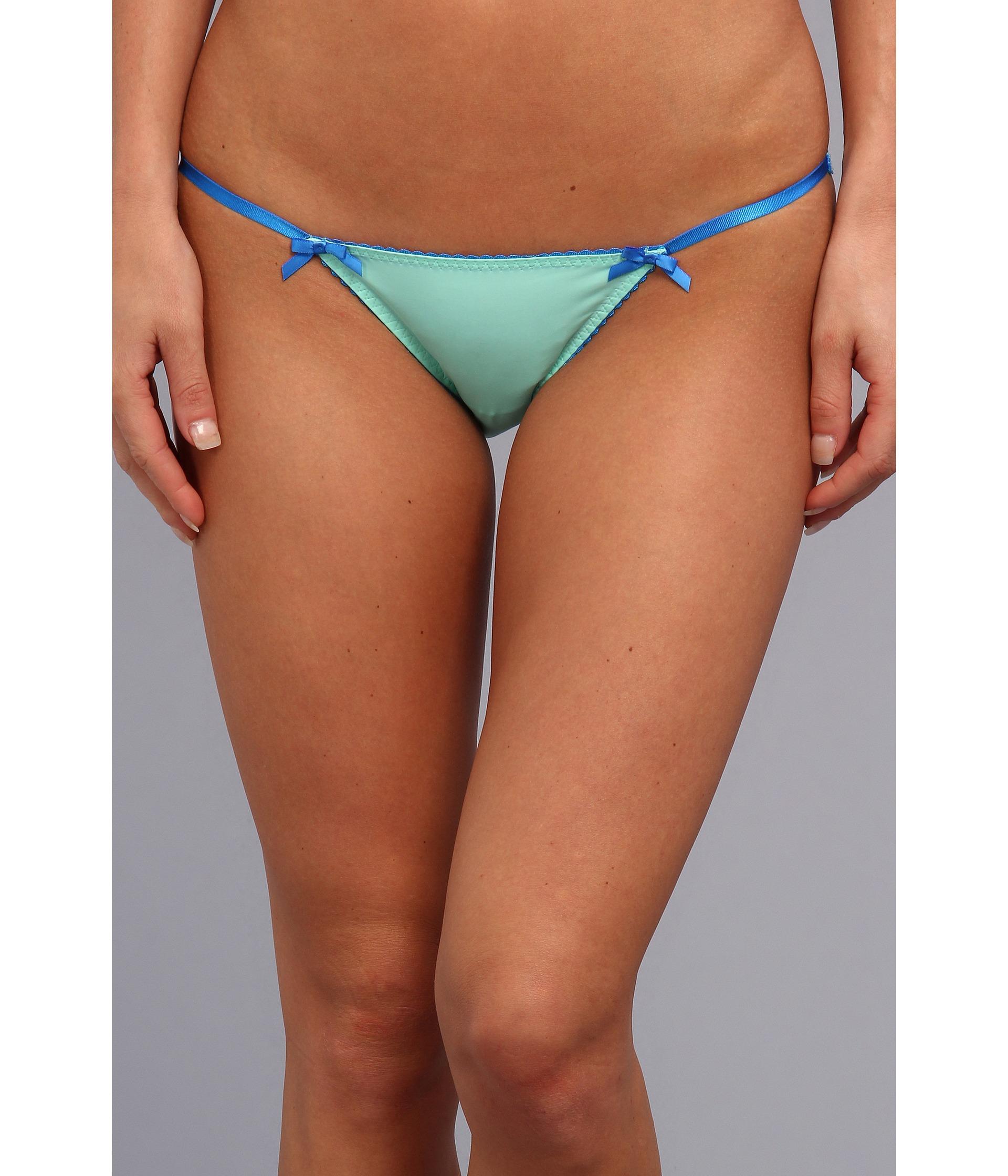 Betsey Johnson Pretty Pin Up Microfiber Bikini 721513 Ice ...