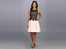 Donna Morgan - Sleeveless Lace Top Full Skirt Dress (Black)