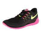 Nike Nike Free 5.0 '14 (Black/Hyper Pink/Anthracite/Volt) Women's Running Shoes