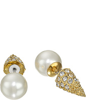 Sam Edelman - Pearly Punk Pearl Pave Stud Earrings