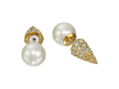 Sam Edelman Pearly Punk Pearl Pave Stud Earrings