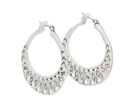 The Sak Metal Works Openwork Metal Hoop Earring - Silver