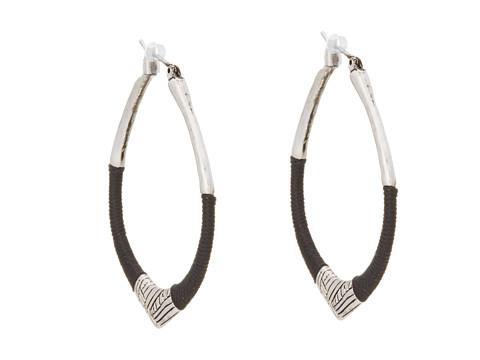The Sak String Forward Third Arabesque Hoop Earring