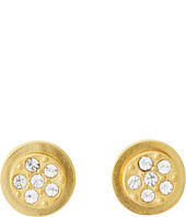 Sam Edelman - Sand Dunes Round Flat Pave Stud Earrings