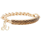 Sam Edelman - Sand Dunes Snake Metal ID Bracelet (Whiskey/Gold) - Jewelry