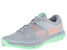 Nike - Flex 2014 Run (Light Magnet Grey/Green Glow/White/Bright Mango)