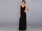 Donna Morgan - Julie Bra Friendly Long Gown (Black) - Apparel