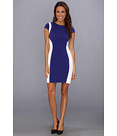 Ivy & Blu Maggy Boutique - Cap Sleeve Colorblock Sheath Dress
