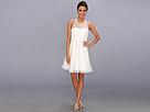 Donna Morgan Orangza Beaded Dress (White Lily)