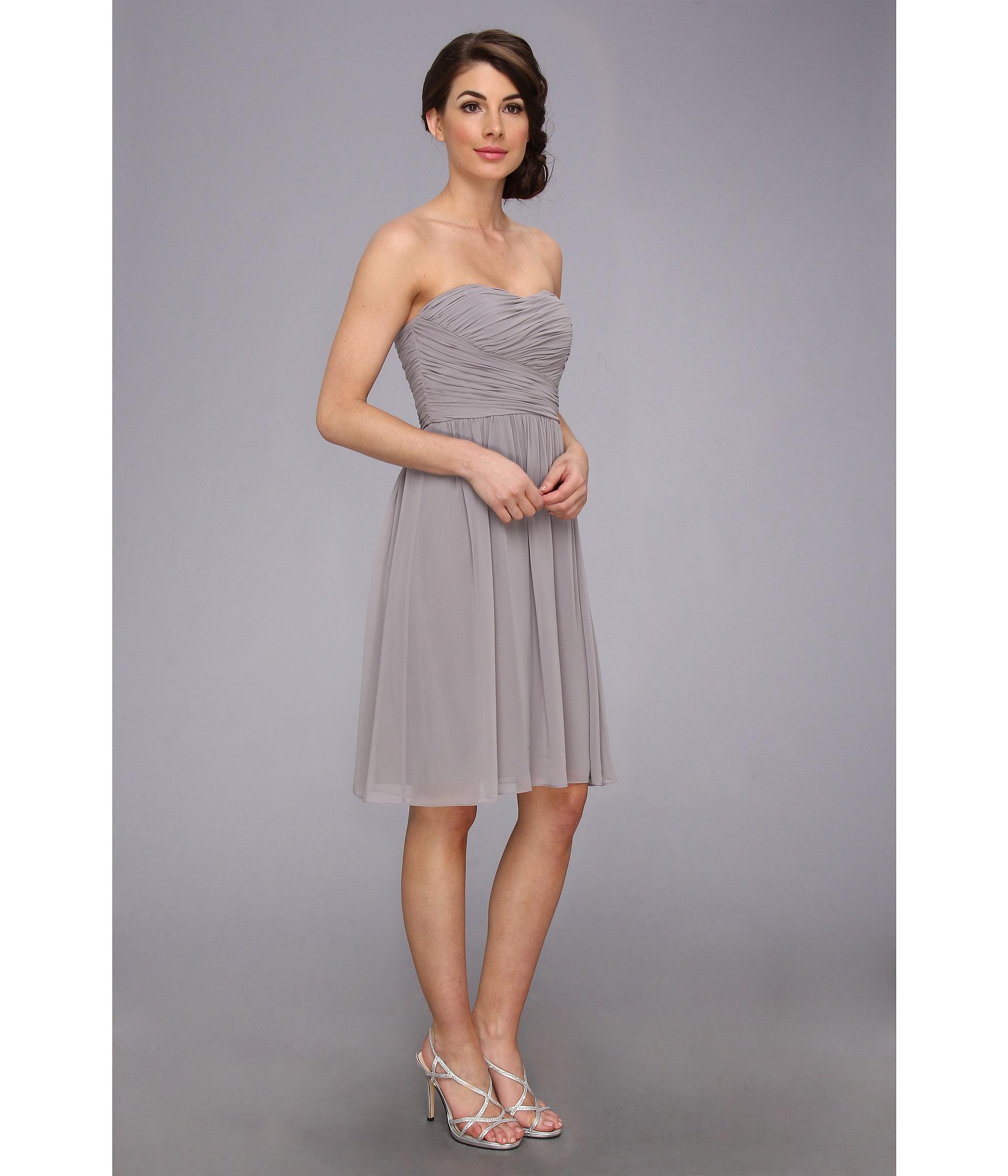 Turmec » donna morgan sarah strapless ruched chiffon dress