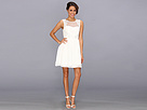 Donna Morgan - Anelisa Dress w/ Open Lace Back (White Lily) - Apparel